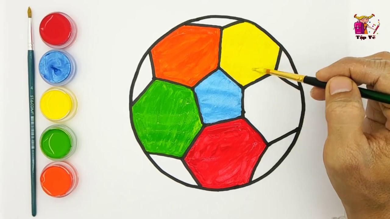 Vẽ và tô màu quả bóng | Draw and color the ball