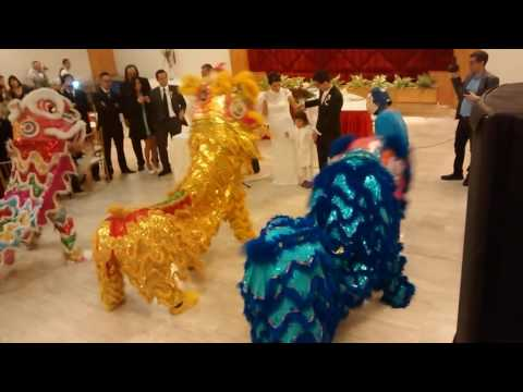 DANZA DE LEONES CHINOS EN MATRIMONIO - CHUNG SHAN - LIMA - PERU