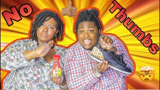 No Thumbs Challenge | Life with Daii & Bre