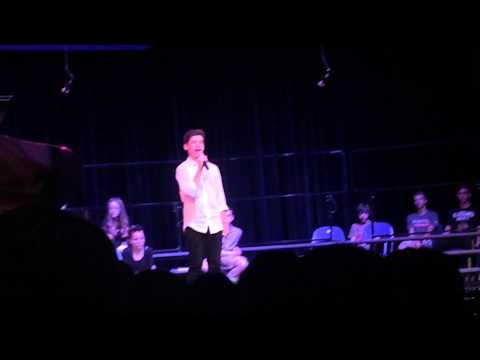 """Kevin Ocampo singing """"My Way"""" by Frank Sinatra in the 2015 Lake Bluff Middle School talent show"""