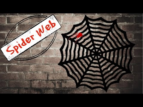 DIY: Halloween Decorations | Paper Spider Web
