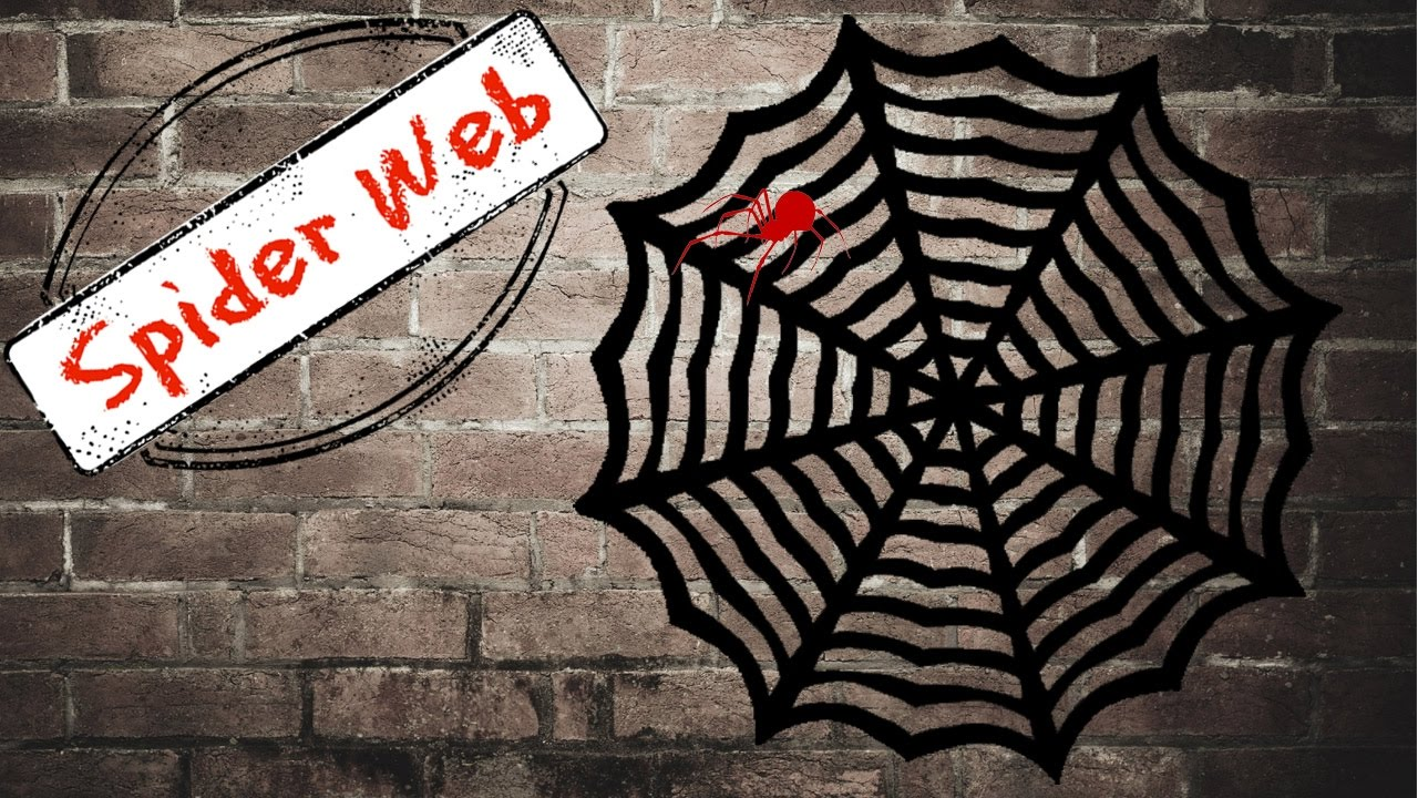 diy halloween decorations paper spider web youtube - Halloween Spider Web Decorations