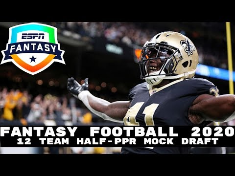2020 Fantasy Football Mock Draft (Half PPR)- 12 Team- Pick 6