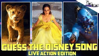 Guess The DISNEY Song! - (Live Action Edition!) - Aladdin - The Lion King - & MORE