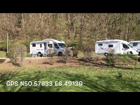 Camperplaats Gemund In de Eifel.