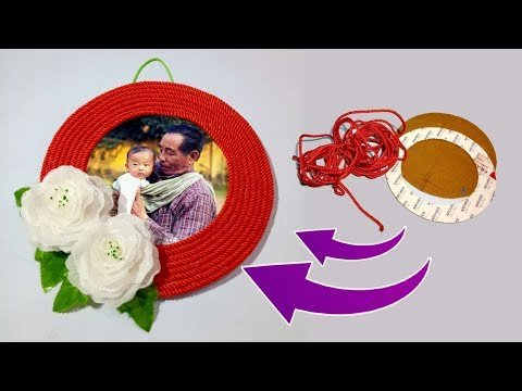 Make Awesome Photo Frame Out Of Waste Materials | Best DIY Ideas