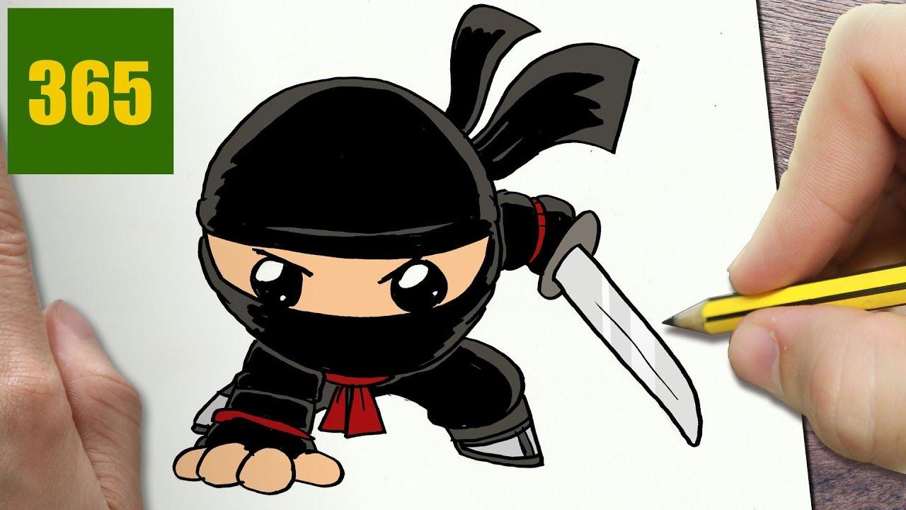 Hur man ritar ninja kawaii steg f r steg kawaii - Comment dessiner ninjago ...