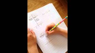 5 yr old carrying out Visual Maths Division