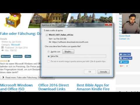 iso ufficiali windows e office senza product key