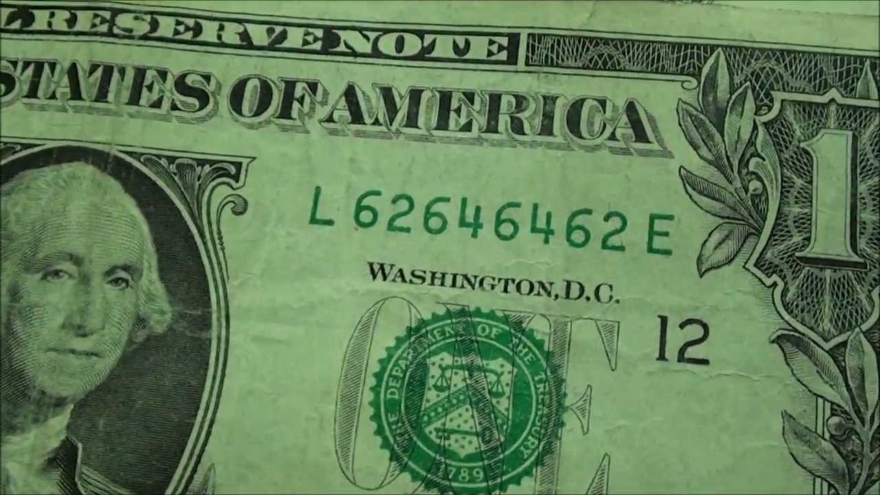 Awesome Ultimate Serial Number On One Dollar Bill