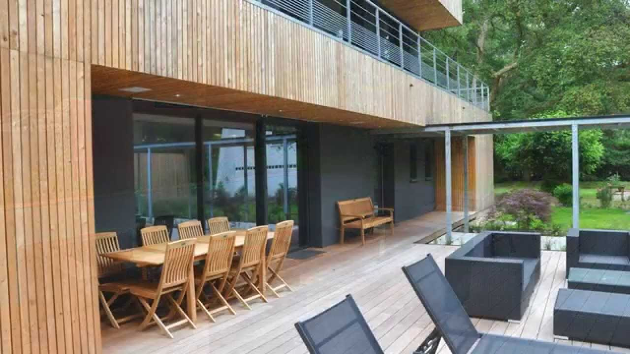 A vendre villa contemporaine en bois hossegor youtube for Villa en bois