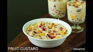 fruit salad with custard recipe