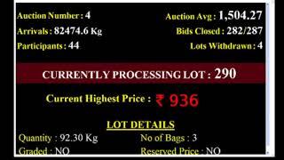 SPICES BOARD| E-AUCTION  PUTTADY|01/08/2020 CPMCS LIVE