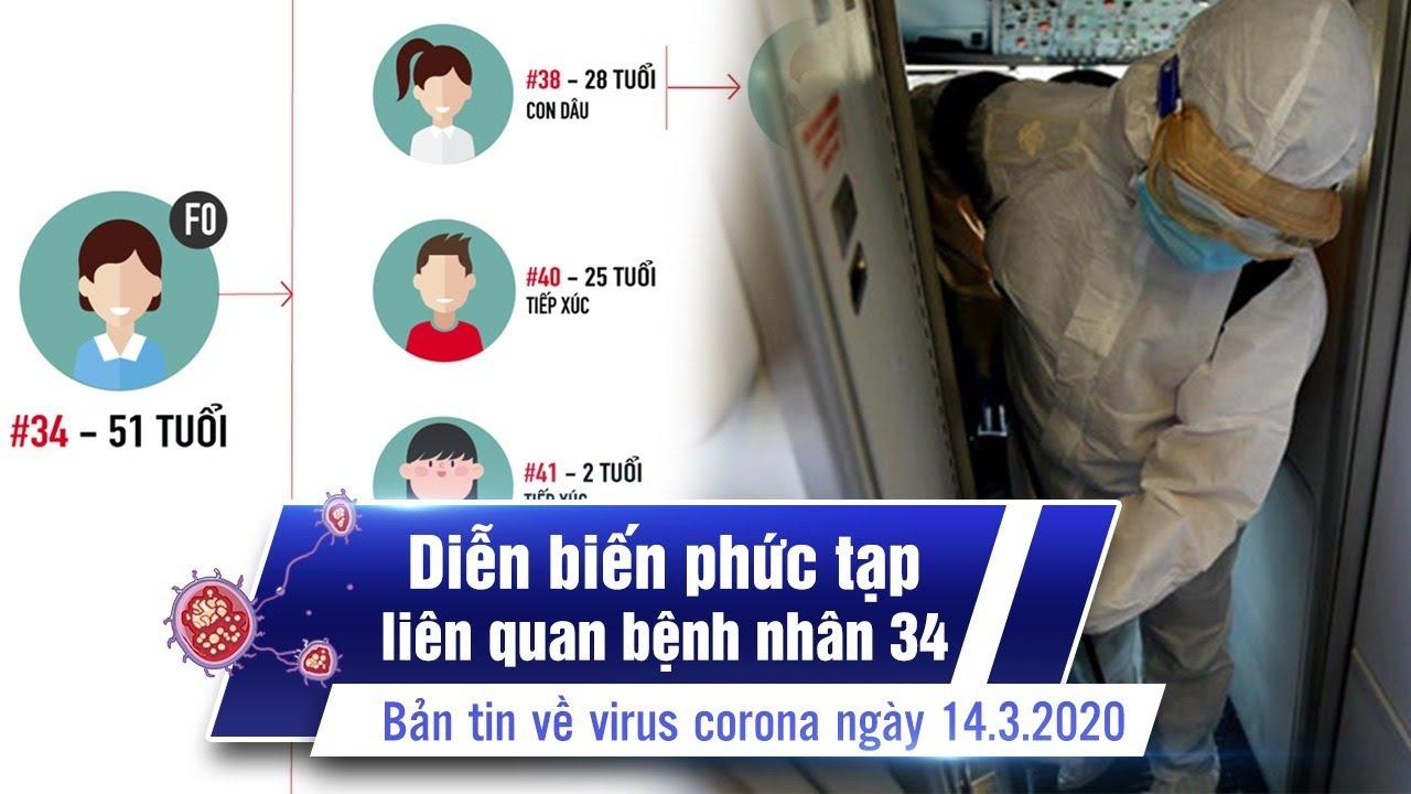 Việt Nam 53 ca nhiễm, diễn biến phức tạp vì bệnh nhân 34 | Bản tin về virus corona ngày 14.3.2020