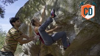 Climbing Sessions: Working A Font 8A Boulder | Climbing Daily Ep.1329