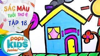 Sắc Màu Tuổi Thơ - Tập 18 - Bé Tập Vẽ Ngôi Nhà Hoa Hồng | How To Draw Coloring House of Roses