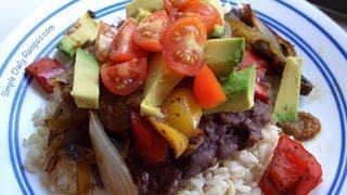 Quick Black Bean Dinner From Leftovers