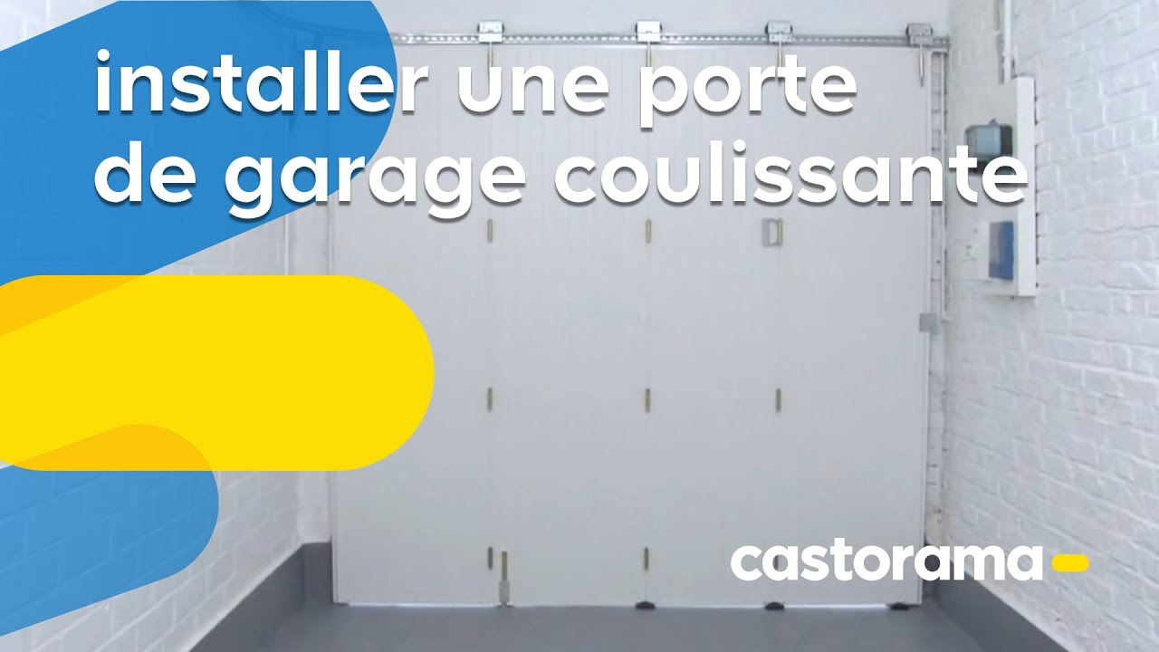 installer une porte de garage coulissante castorama youtube. Black Bedroom Furniture Sets. Home Design Ideas