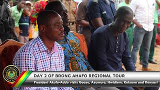 Day 2 of the 3-Day Tour of the Brong Ahafo Region