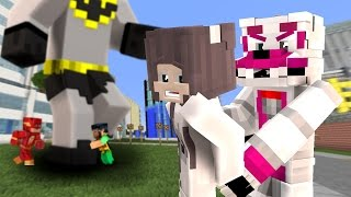Minecraft Fnaf: Funtime Foxy Captures Anna & controls GIGA Batman?