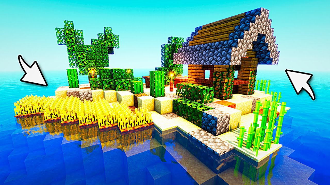 Minecraft Island Transformed: Timelapse
