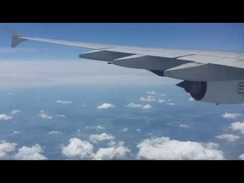 Emirates EK139 A380 From Dubai DXB descend and landing in Pr