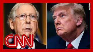 Trump issues scathing rebuke against Mitch McConnell