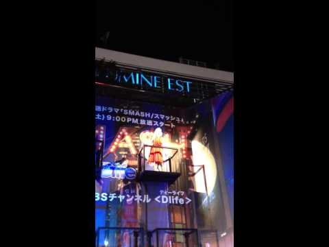 Dlife SMASH Human Billboard @ 新宿