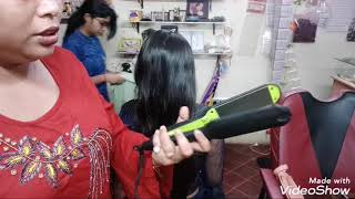 Curling hair with v amp g straightening machine by Priya 39 s parlor