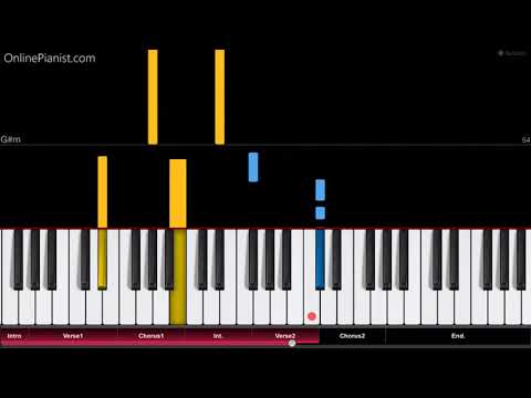 French Montana - Unforgettable ft Swae Lee - EASY Piano Tutorial