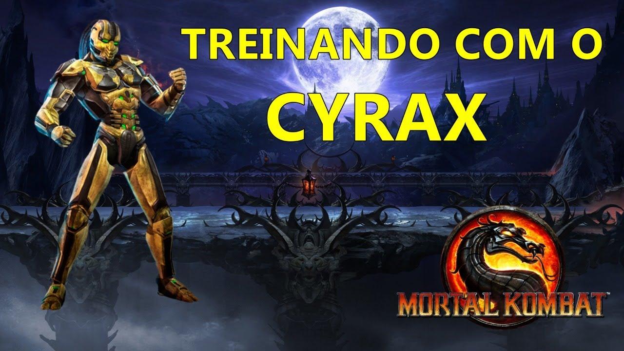 MORTAL KOMBAT 9  |  TREINANDO COM CYRAX |  JOGANDO NO PC