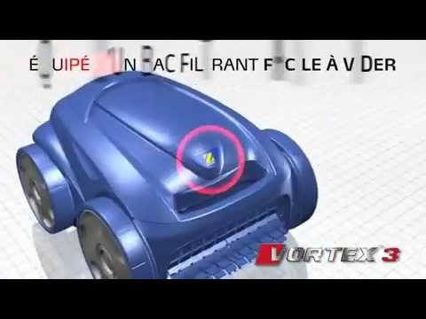 vortex 3 robot automatique nettoyeur piscine by zodiac piscine et jardin youtube. Black Bedroom Furniture Sets. Home Design Ideas