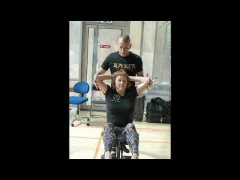 Chair massage...Gold medal Moshe moreno