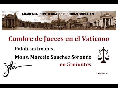 Vaticano: Cumbre de Jueces (4)  Mons Sanchez Sorondo.
