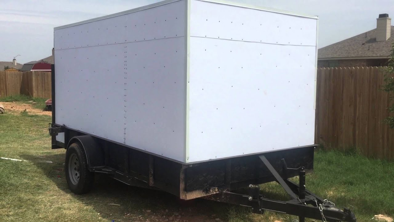 Homemade cargo trailer 4 - YouTube