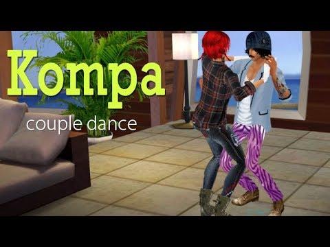 IMVU - Kompa - Couple Dance Animation For IMVU 3d Chat (virtual World)