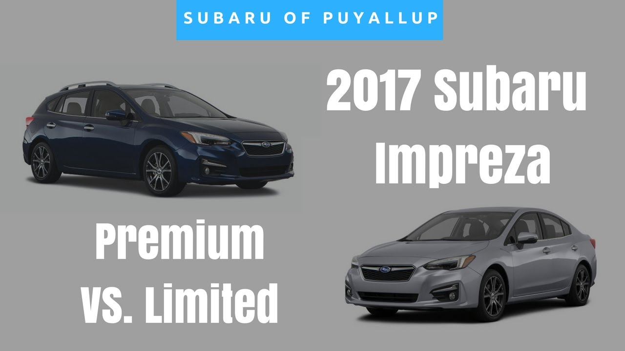 2017 subaru impreza comparison limited vs premium youtube. Black Bedroom Furniture Sets. Home Design Ideas