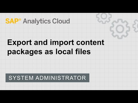 Export and import content for deployment   SAP   SAP