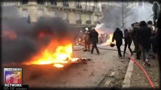 PARIS BURNS: City of Lights Becomes City of Fire Following Anti-Macron Protest Violence