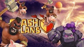 Clash Of Clans   Hog Rider Attack Strategy - 2015   Golem + Hog = 3 STAR