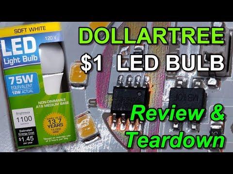 Dollar Tree $1 LED Bulb: 1100 Lumen (12w) Teardown And Review