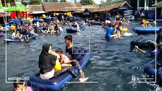 Wisata mata air,diserbu pengunjung  pemandian cikoromoy cimanuk pandeglang banten
