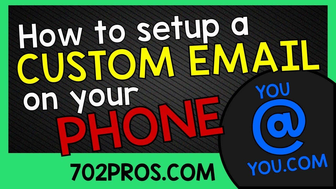 How to setup a custom email on phone   IMAP email from Godaddy  name@website com by 702 Pros