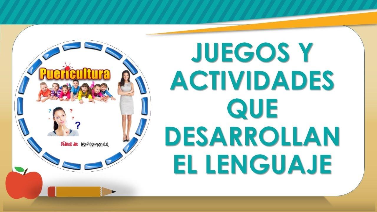 Juegos y actividades para el desarrollo del lenguaje ni os for Actividades divertidas para el salon de clases