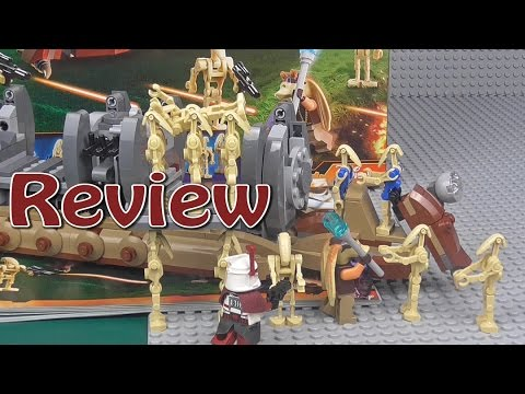 Lego Star Wars: Battle Droid Troop Carrier Review 75086 - YouTube