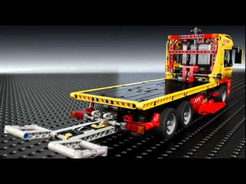 magazinul de jucarii prezinta lego technic 8109 flatbed truck camion cu. Black Bedroom Furniture Sets. Home Design Ideas