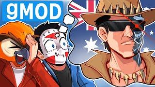 Gmod Ep. 99 - FAKE THANKSGIVING DEATHRUN!  Australian Arnold - (W/Vanoss & Terrorizer)