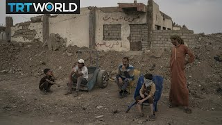 Mosul Retaken: Families in Mosul living in rubble