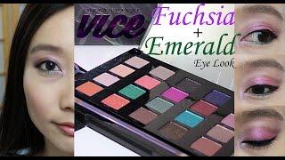 "Urban Decay ""Vice 4"" Tutorial: Fuchsia and Emerald Eye Look"
