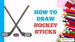 How to Draw Hockey Sticks in a Few Easy Steps: Drawing Tutorial for Kids and Beginners